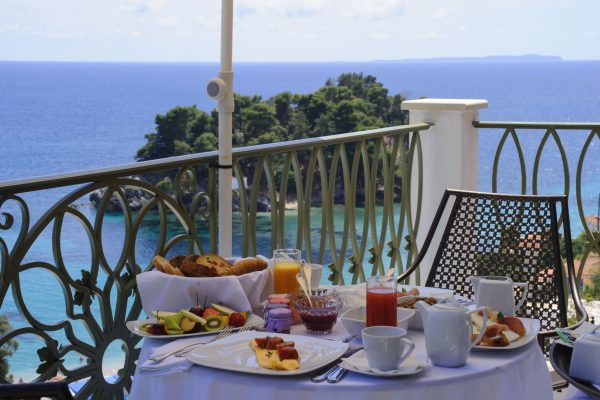 Breakfast balcony irida boutique hotel